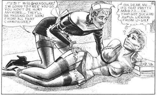 Forced feminization bondage drawings